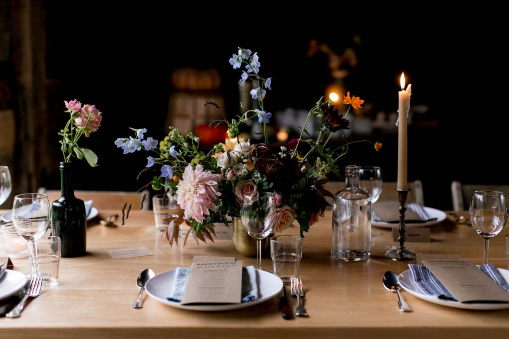 (Fall 2016 harvest dinner in the barn)